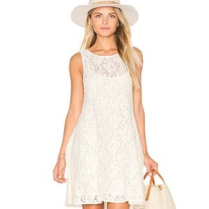 Free People Ivory Miles Of Lace Dress Size XS
